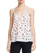 The Kooples Feather Print Silk Top
